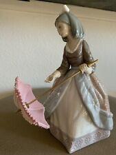 "Lladro Daisa 1983 Figurine ""Opening Umbrella"" Jolie Girl Pink Umbrella Parasol"