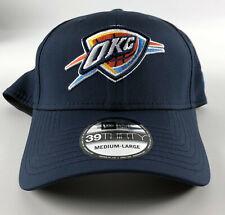 Oklahoma City Thunder Baseball Hat New Era 39Thirty Blue Flex Medium-Large