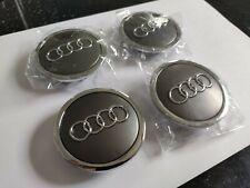 Audi Radnabenabdeckung Radnabendeckel grau matt 69mm original Felgen