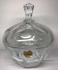 Bonbonnière En Cristal De La Cristallerie D'Arques France H 17 D 14,3 Cm