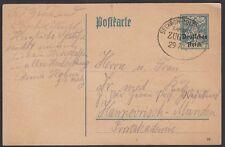 GERMANY, 1920. Post Card P128, Bahnpost, Seckach-Miltenberg