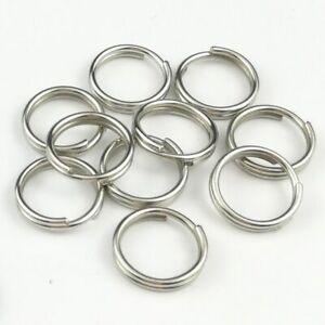 """20mm 316 Stainless Steel Key Rings HEAVY DUTY Split Fishing Scuba 10 pack 3/4"""""""