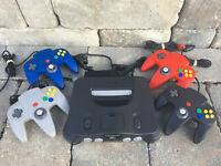 Nintendo 64 Console + Cords + Choose # of OEM Original Controllers! TIGHT STICKS