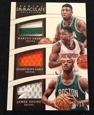 2014-15 Immaculate Marcus Smart Early James Young RC TRIPLE PATCH #'D 5/10 Ssp