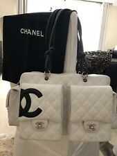 CHANEL Quilted CAMBON Line CC Shoulder Handbag