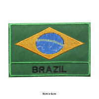 Brazil National Flag Embroidered Patch Iron on Sew On Badge For Clothes etc