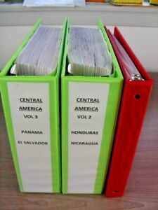 CENTRAL AMERICA, Excellent Stamp Collection hinged on pages(3 binders)