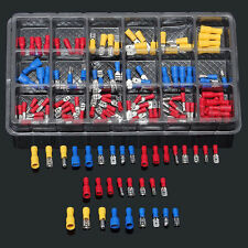 120x Electrical Wire Connector Assorted Insulated Crimp Terminal Spade DIY Kit