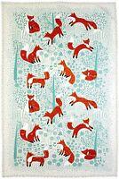 New Ulster Weavers Foraging Fox cotton tea towel