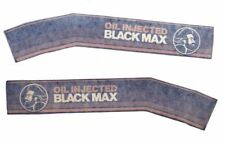 Mercury Marine Black Max Outboard Decals Lower Cowl Oil Injected OEM Vintage