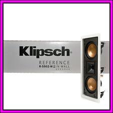 """BRAND NEW Klipsch R-5502-W II Dual 5.25"""" In-Wall CLR Speaker White Grille"""