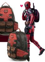 Marvel Deadpool Cosplay Backpack School Bags Travel Bag Bookbag For Unisex
