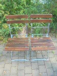 Alter Gartenstuhl Biergartenstuhl Klappstuhl Vintage Holz Metall