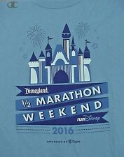 2016 Disneyland 1/2 Marathon Blue T-Shirt - Adult 2Xlarge - New