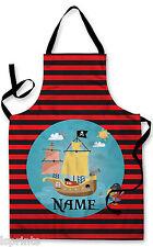 PERSONALIZZATO pirata bambini grembiule cottura al forno PITTURA ACQUA da gioco