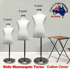 Adjustable Cotton Cover Child Form Mannequin Torso Iron Stand Dummy Model Kids O