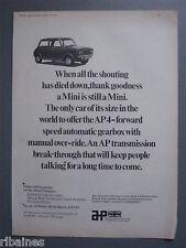 R&L Ex-Mag Advert: Austin / Leyland Mini Clubman Car