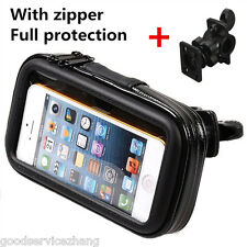 Waterproof Portable Motorbike ATV Handlebar Mount Storage Cellphone Bag Case Kit