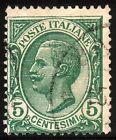 REGNO D'ITALIA 1906 - Vittorio Emanuele III, 5 cent. verde - Cat. SASSONE n. 81