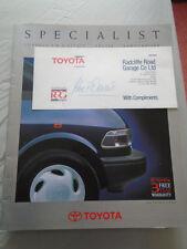 Toyota Specialist brochure Autumn 1990 Corolla 4WD Estate, Previa, Landcruiser