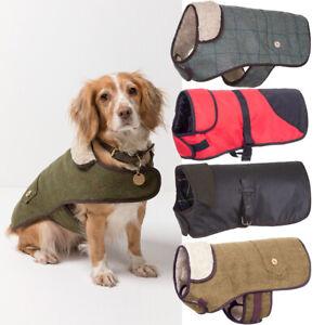 Rydale Dog Coats Tweed, Waxed Cotton or Soft Quilt Pet Dog Puppy Jacket Coat