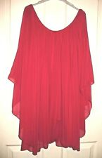 Ladies Bright Pink Cape sleeved style  blouse size 14
