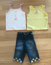 GYMBOREE Lemons Set With 2 Tanks And 1 Paid Of Jeans- Girls 5/6