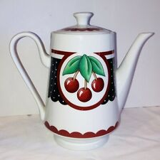 Mary Engelbreit 3 Cherries Teapot 2001