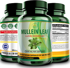 Mullein Leaf Capsules Extract - Herbal Lungs Supplement for Respiratory Health,