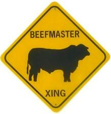 BEEFMASTER XING Aluminum Cow Sign Won't rust or fade
