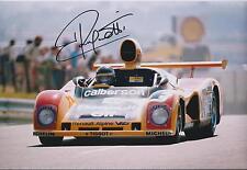 Jean RAGNOTTI SIGNED RENAULT Alpine V6 Autograph 12x8 Photo AFTAL COA
