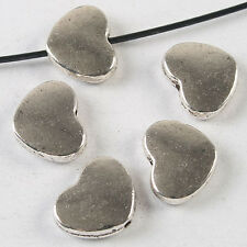 20pcs dark silver tone heart spacer beads h3718