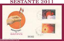 ITALIA FDC ROMA 1977 DONIAMO SANGUE DONATORI  ANN. CASTELLAMMARE DI STABIA G790