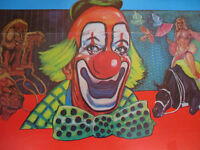 Circus Clown Performing Arts Original Scary Funny Poster lot European Foreign