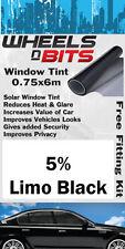 FORD FIESTA FOCUS finestra Tinta 5% Limo Nero Solare Pellicola Isolante UV KIT