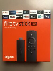 Amazon Fire TV Stick Lite HD 2020 Release Black With Alexa Voice Remote UK Plug
