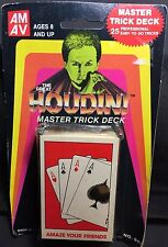 1st Ed Harry Houdini vTg Playing Cards Magician Deck Sealed Collectors Edition
