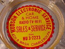 Vintage Hudson Electronic Service Car & Home Charleroi PA Ashtray