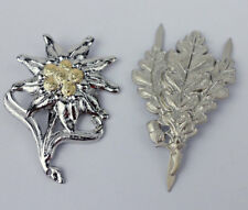 WWII Germany Army Sniper Cap Badge Insignia Edelweiss Badge Pin -0123