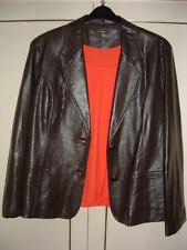 Plus Size Faux Leather Button Coats & Jackets for Women