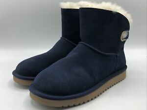 Koolaburra By UGG Women's Size 7 Remley Mini Faux Fur Boots Blue New in Box