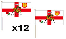St George Charger Waving Hand Flag 12 Pack Decoration England Rose Lion English