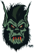 Monster Wolf Head STICKER Red Eyes Bloody Teeth Decal Eric Pigors PG64