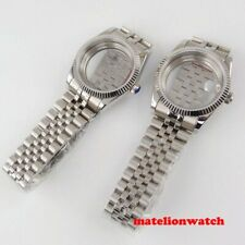 36mm Watch Case Parts fit for Miyota 8215 ETA 2836 sapphire glass with bracelet