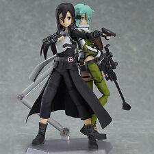Sword Art Online SAO Kirito + Sinon Shino 2pcs Action Figure PVC Figma in Box