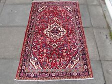 Fine Old Hand Made Traditional Persian Oriental Wool Red Small Rug 155x103cm