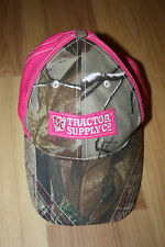 Tractor Supply Co Company TSC Women's Pink Camo Adjustable Baseball Cap Hat