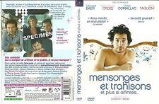 UNIQUEMENT LA JAQUETTE POUR DVD : MENSONGES ET TRAHISONS avec EDOUARD BAER