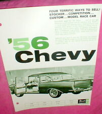 "Revell '56 Chevy 1/25 Model Car Kit 1964 Dealer Advertising Flyer 8"" X 11"" NOS"
