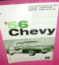 """Revell '56 Chevy 1/25 Model Car Kit 1964 Dealer Advertising Flyer 8"""" X 11"""" NOS"""